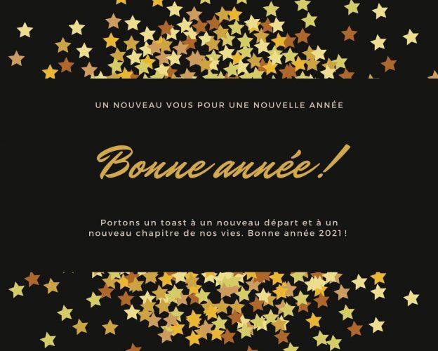Noir-Dore-Etoiles-Paillettes-Bonne-Annee-Carte